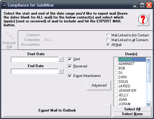 Compliance for GoldMine