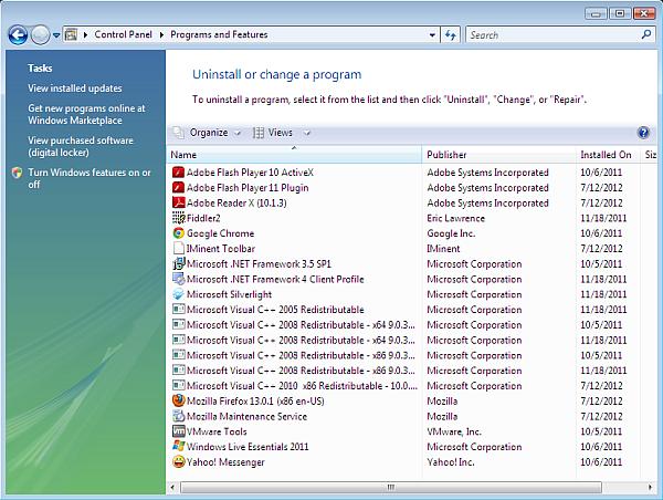 How to uninstall software on Windows Vista - Windows Vista add/remove programs